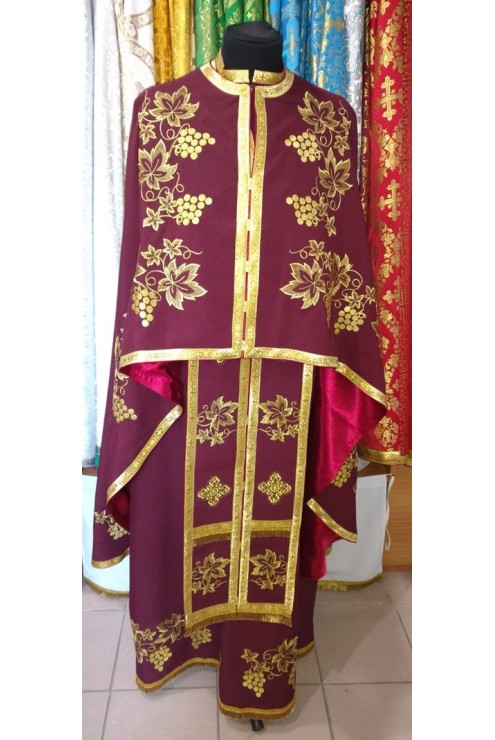Одяг для священника ФГ43 вишневий – купити в Києві 465b11f4809b3