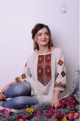 Українська сорочка - туніка для дівчаток і жінок 1802 d4250121d3bcd
