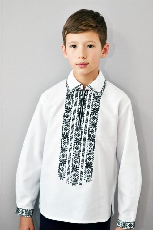 Українська сорочка вишита для хлопчика Монохром – купити в Києві ... 6286765941516