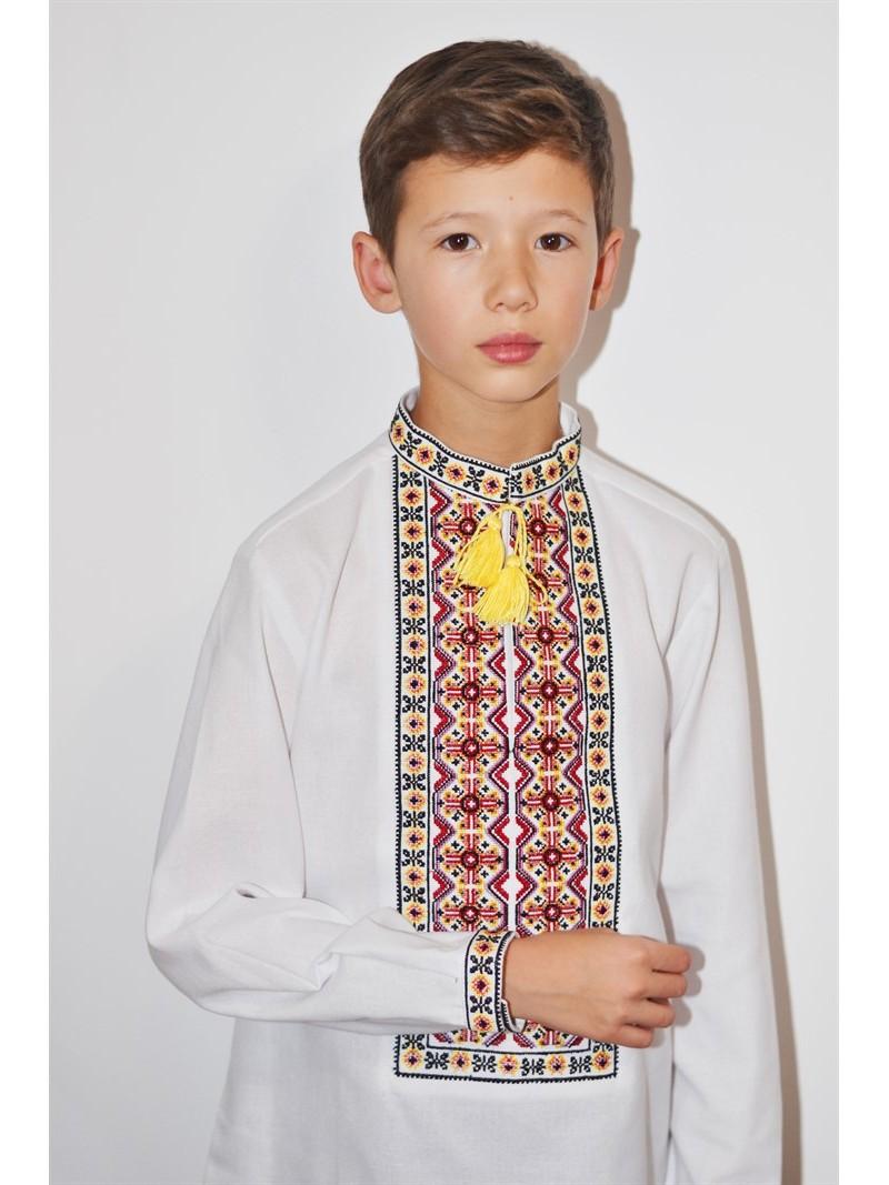 Українська вишита рубашка для хлопчика Святкова – купити в Києві ... 9fe6f13bd0fba