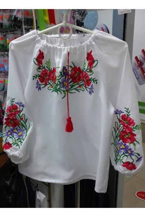 Вишиваночка для дівчинки Маки – купити в Києві e96ec8905a0a1