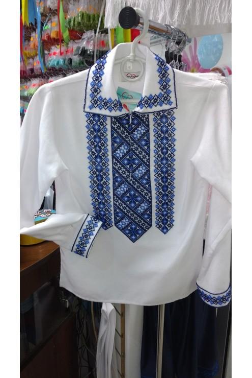 Сорочка вишита бісером Синя – купити в Києві d09cd39173d1d