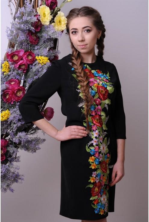 купити Стильне плаття з елементами вишивки 1803 ціна ff11a4d9fce5f