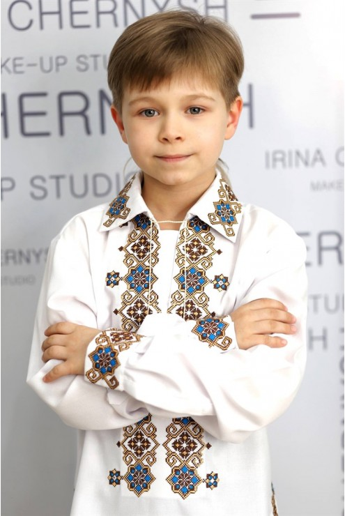 Вишита українська сорочка для хлопчика СХ 01 – купити в Києві ... 4b9afd0ffdc25