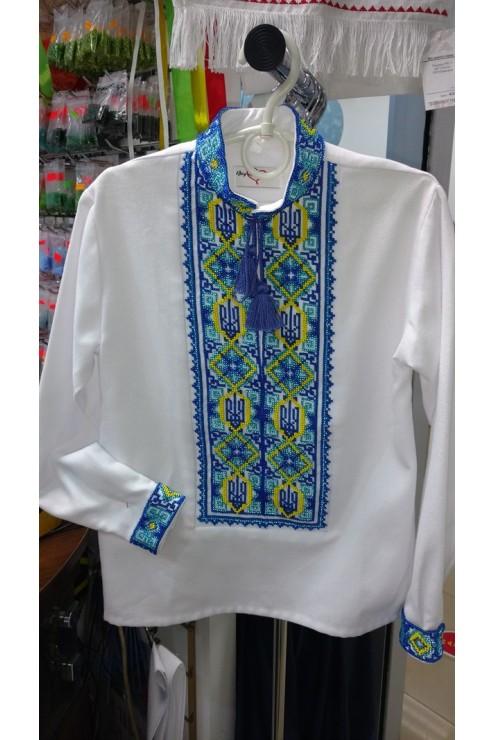Рубашка вишита бісером Тризуб – купити в Києві c4e83d5146a8b