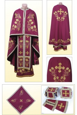 Облачение церковное ФГ85 вишневое фото