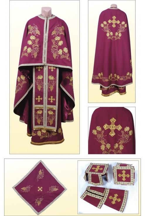 Облачення церковне ФГ85 вишневе фото