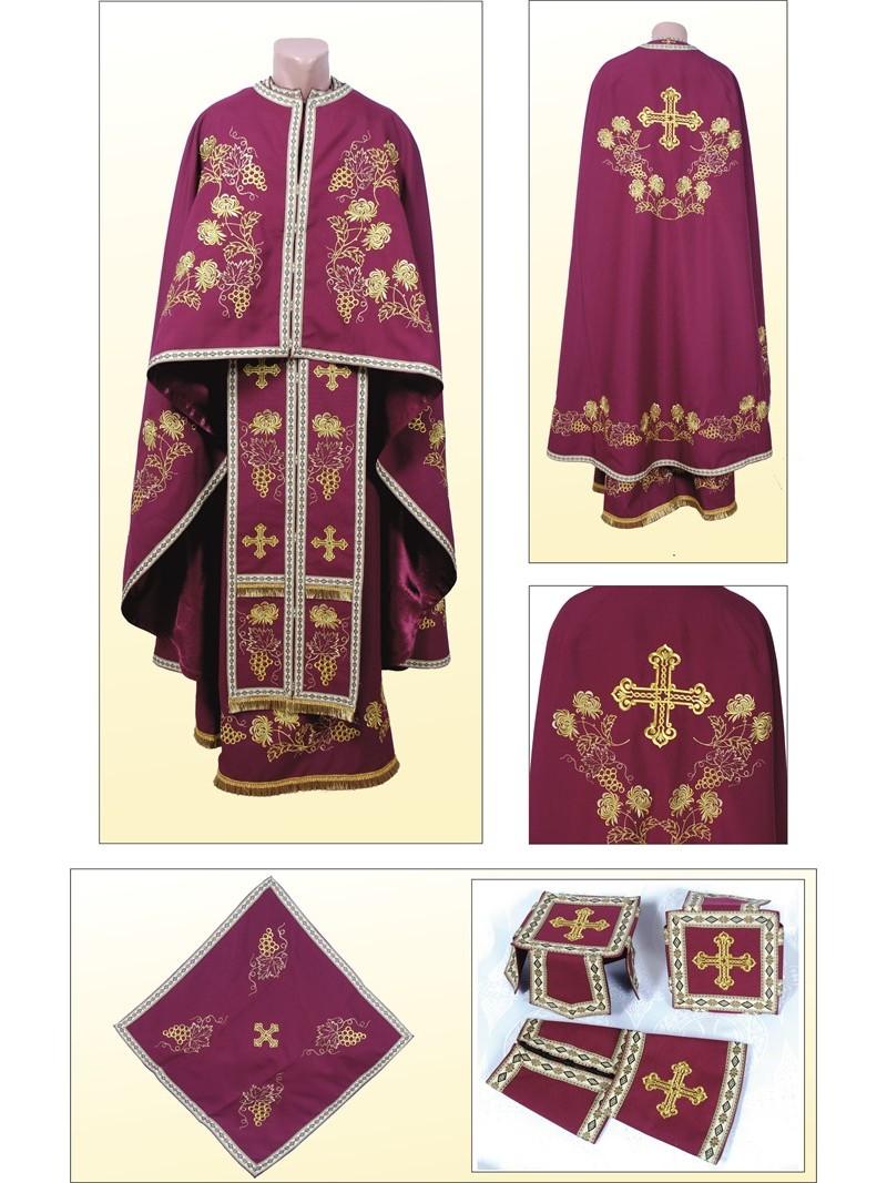 Облачення церковне ФГ85 вишневе – купити в Києві f103183a71ce6
