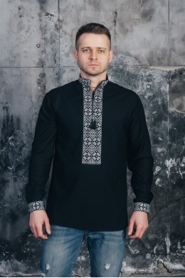 Вышитая рубашка мужская 06 фото