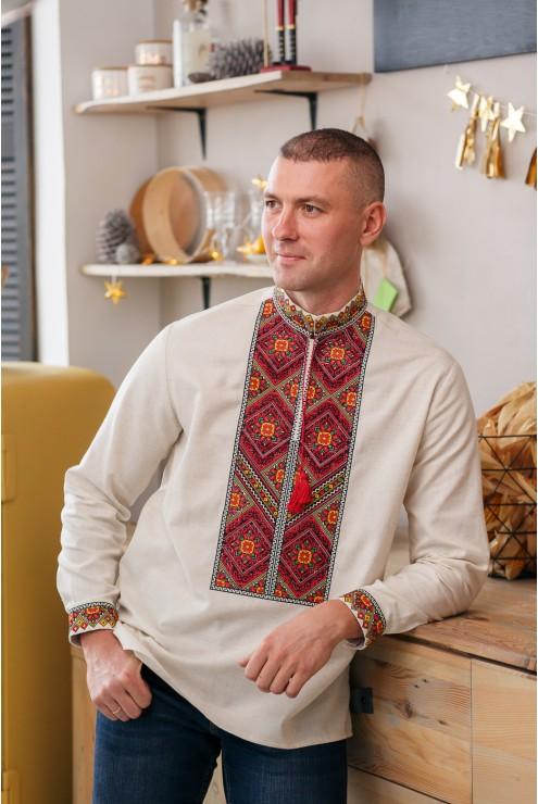 Рубашка чоловіча українська з стильною вишивкою 1802