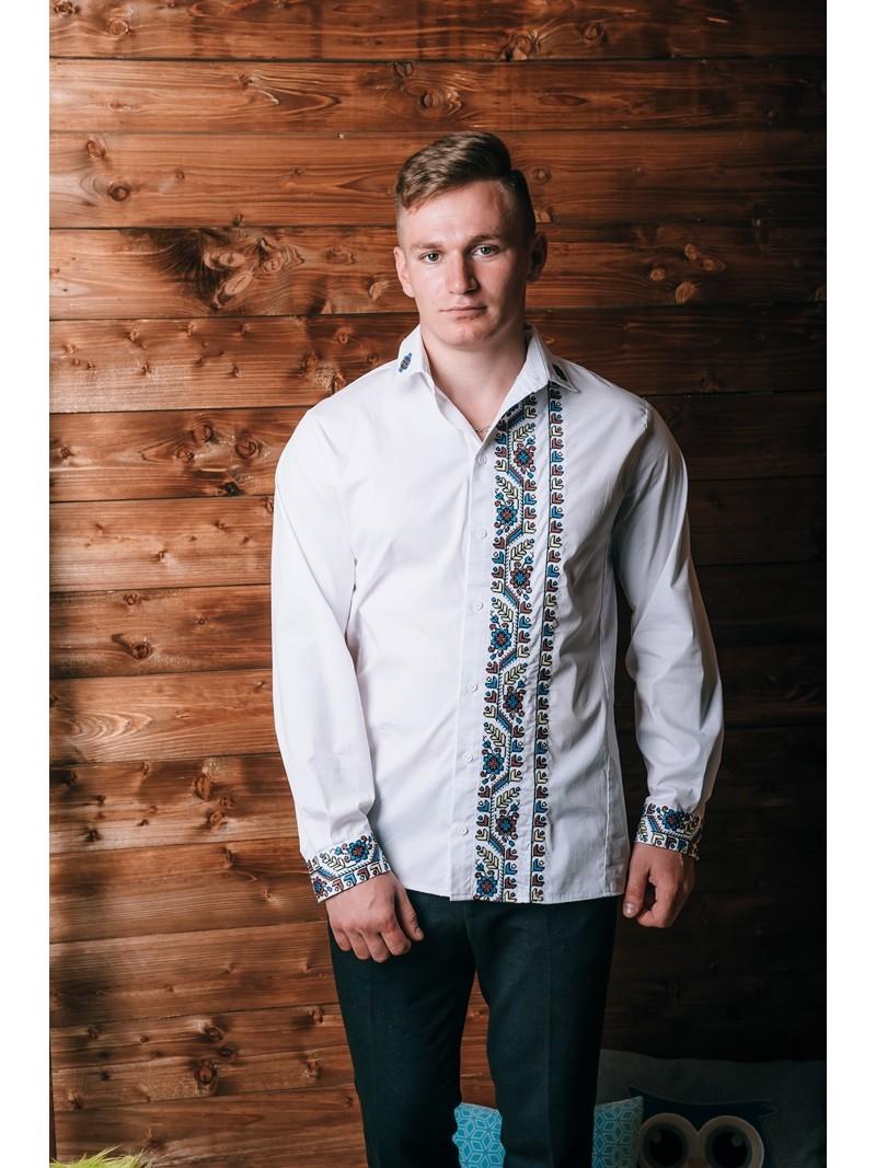 купити Ексклюзивна чоловіча сорочка з вишивкою 1859 ціна 05dc49396f80c
