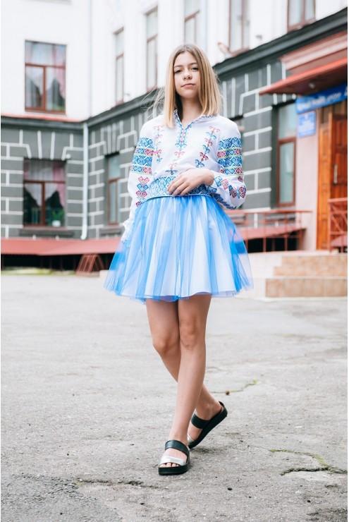купити Дитяча шкільна блуза-сорочка 1864 ціна 7d1e570061fa8