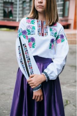 Біла блуза з мереживом для дівчинки 1880 75cedcf7bbcb6