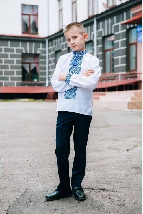 8c48f1f8407ec7 купити Дитяча вишиванка для хлопчика в голубих тонах 1874 ціна