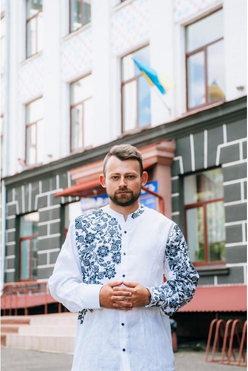 купити Сорочка з асиметричною українською вишивкою 1879 ціна 1abf7d82fef59