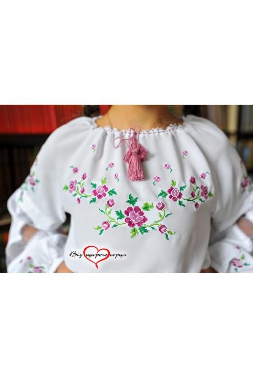 Блузка дитяча для дівчинки із сіткою1902