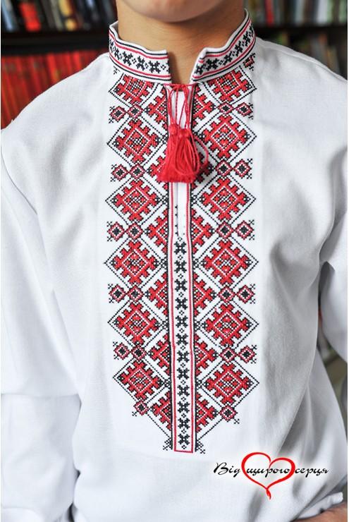 Чорно-червона вишиванка для хлопця 1907