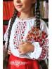 Чорно-червона вишиванка для дівчинки 1908