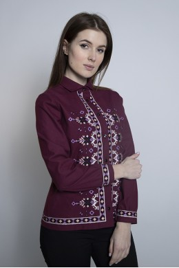Блуза-піджак вишнева 1962
