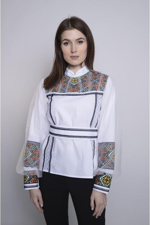 Блуза вишита з євросіткою і поясом 1964