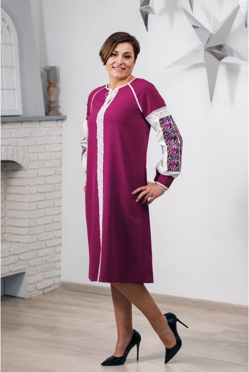 Плаття вишите фуксія 2005