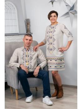 Плаття та сорочка лляні парні 2007
