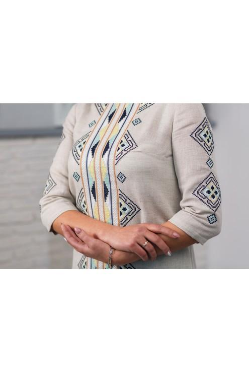 Плаття вишите сіре лляне  2007