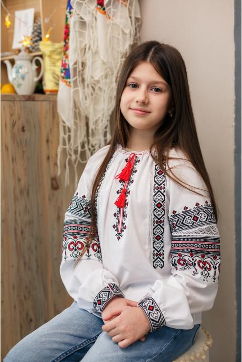 Блузка вишиванка чорно-червона 2009