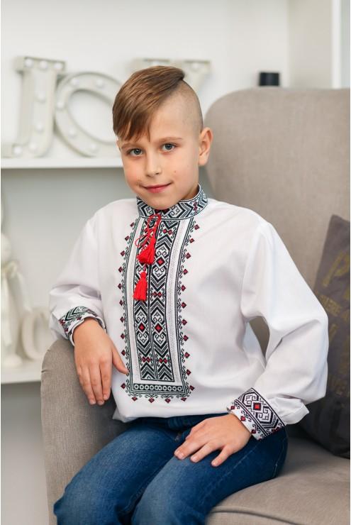 Сорочка дитяча чорно-червона 2009