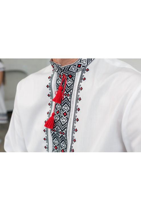 Сорочка з вишивкою сорно-червона 2009