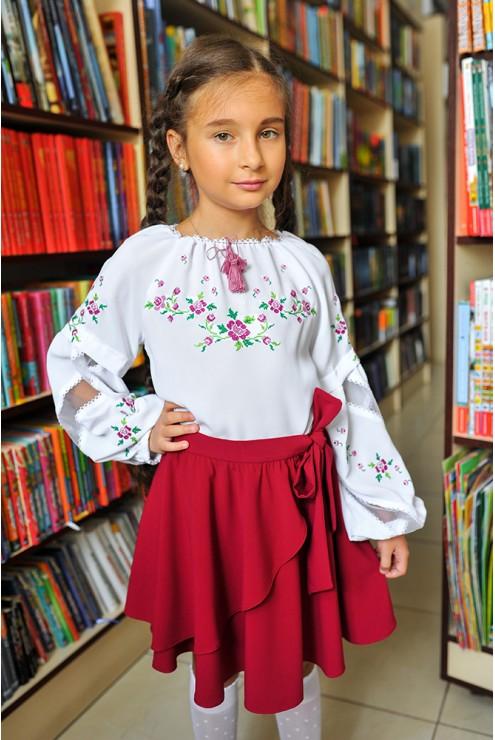 Спідничка для дівчинки кльош-волан