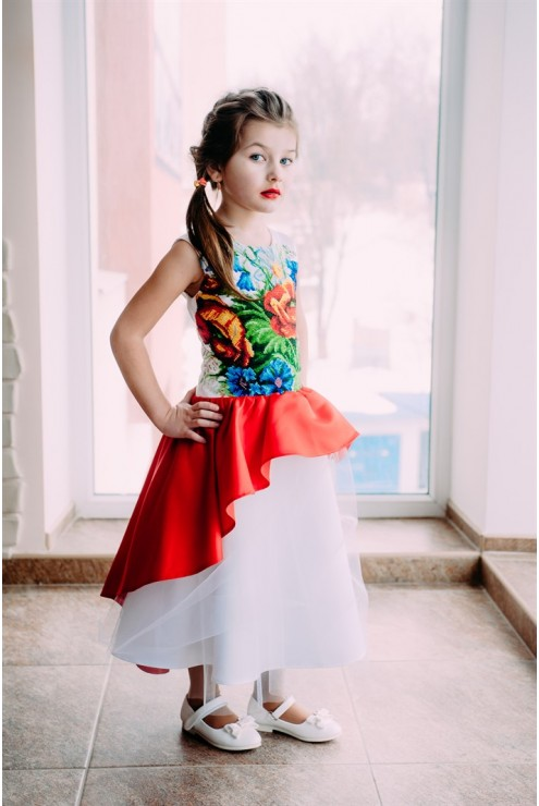 купити Дитяче вишите плаття 2454 ціна 80911fe27e486