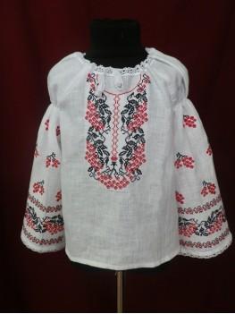 Сорочка вишиванка для дівчинки Червона калина