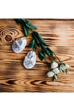 Вышитые пинетки для крещения ХП 08 ф фото