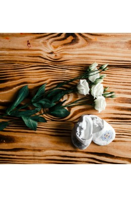 Чепики с вышивкой для крещения ХП 11 с фото