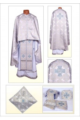 Церковне вбрання Ф101 срібне фото
