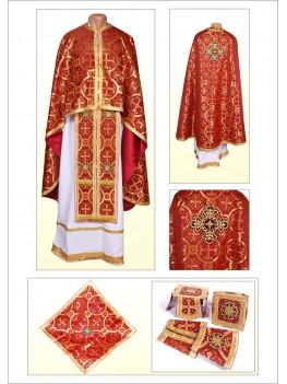 Шати для священиків Ф102 вишневі