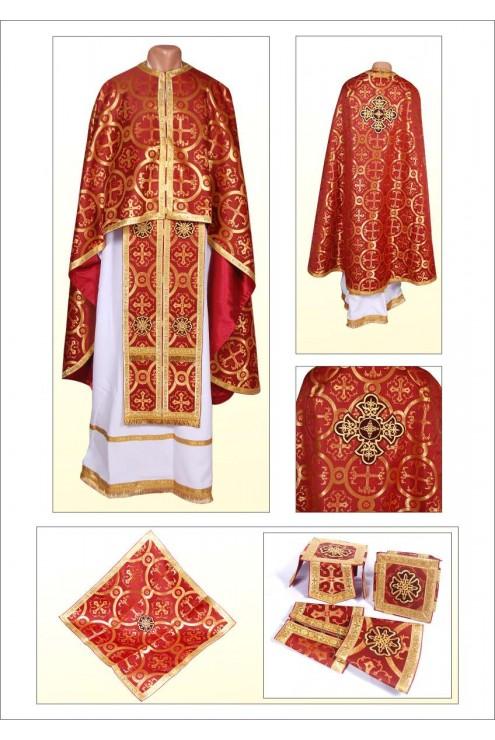 Шати для священиків Ф102 вишневі фото