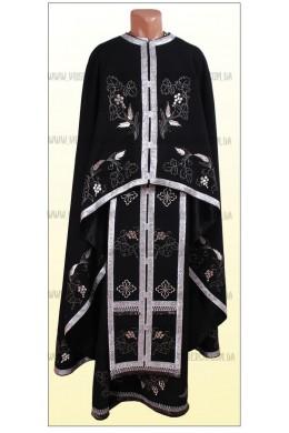 Шати вишиті церковні Ф34 чорний фото