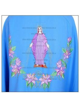 Шати для священнослужителів вишиті Ф27 голубі з рожевою лілією