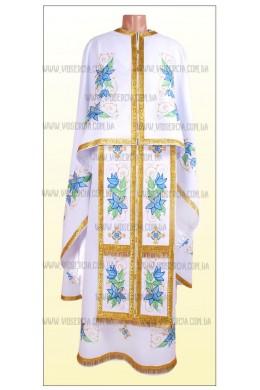 Вишиті шати для священнослужителів Ф27 білі