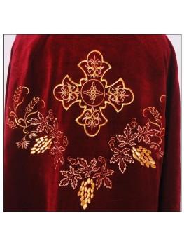 Вишитий одяг для священників Ф37 оксамит вишевий