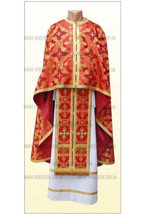 Шати для священників Ф59 червоні фото