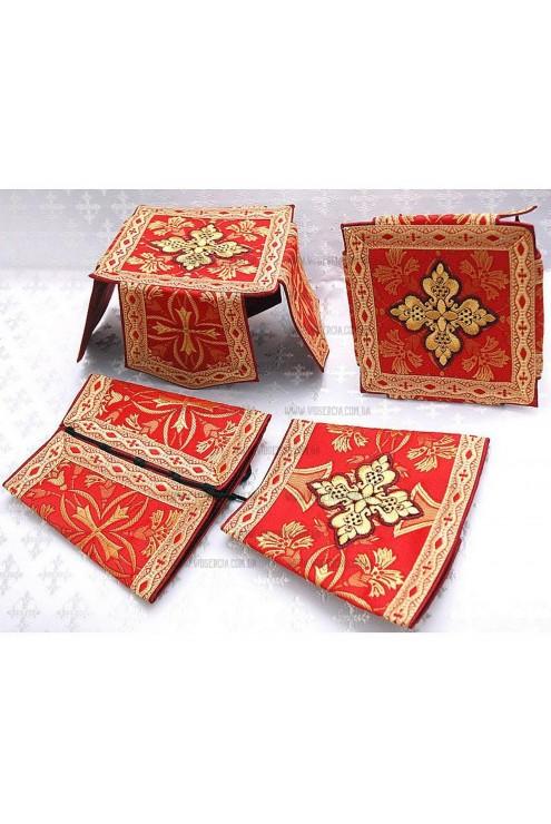 Фелон церковний Ф 70 червоний фото