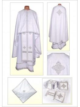 Шати для священнослужителів Ф68 білі по білому