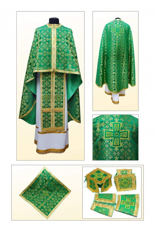 Облачение для священнослужителей Ф70 зеленое фото