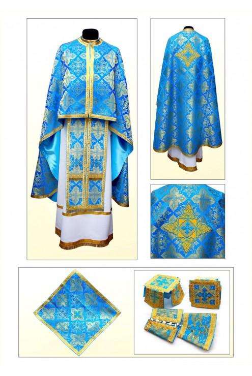 Шати церковні Ф72 голубі фото
