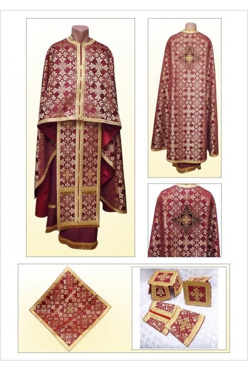 Шати для священників Ф70 вишневий фото