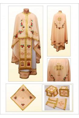 Одяг для священників вишитий Ф84 персиковий фото