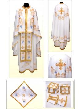 Облачение для священников вышитое Ф85 белое